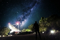 Milky Way over Parkes Observatory New South Wales Australia
