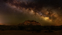 Milky Way over Picketpost Mountain near Phoenix AZ