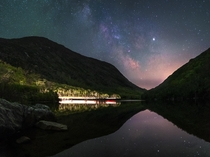 Milky Way over Profile Lake NH