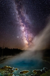 Milky Way over Silex Spring Yellowstone National Park