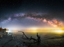 Milky Way over some driftwood Prince Edward County Ontario Canada  x