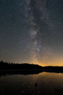 Milky Way over Spukunne Lake BC Canada