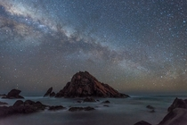 Milky Way Over Sugarloaf Rock - Western Australia