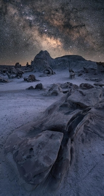 Milky Way over the Boneyard in New Mexico
