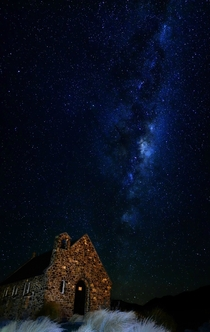 Milky Way over the Church of the Good Shepherd New Zealand
