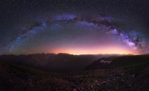 Milky Way over the Colorado Rockies Take Two