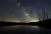 Milky Way over the Conesus Lake Inlet in Western New York