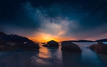 Milky way over the horizon at Koh Lipe Island Thailand OC  jabisanz