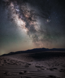 Milky Way over The Mesquite Flat Sand Dunes in Death Valley National Park Edited in accordance with Nat Geo guidelines
