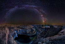 Milky Way over The Palouse Falls Washington Photo by Michael Brandt