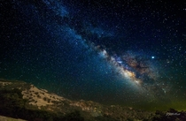Milky Way over the San Andreas fault near Hollister California