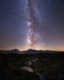 Milky Way over the Sierras Mammoth Lakes CA oc
