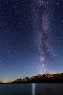 Milky way over the Tetons OC