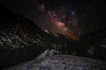 Milky Way over the Trinity Alps California