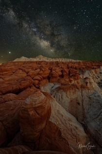 Milky Way over Toadstool Hoodoos