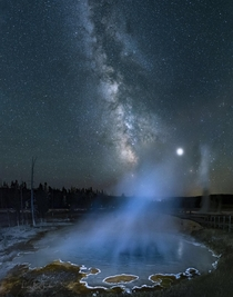 Milky Way over Yellowstone by Lori Jacobs