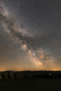 Milky Way panorama from a dark location