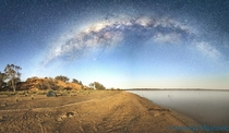 Milky Way panorama taken at Coongie Lakes in the Australian Outback OC x