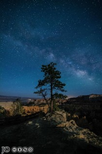 Milky Way Rising Over Bryce Canyon During a Waxing Moon