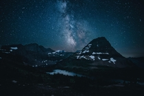 Milky Way rising over Glacier National Park in Montana  by danielbenjaminphoto