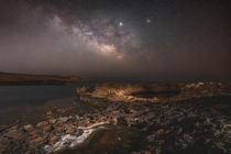 Milky Way rising over humidity haze - Xylophagou Cyprus