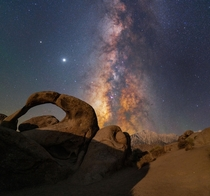 Milky Way Rising over Mt Whitney