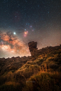 Milky Way rising over Teide National Park Tenerife  IG astrorms