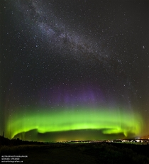Milky Way seen above an aurora over stersund Sweden photo by Gran Strand Sept