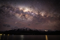 Milky-way setting over Middle Earth -Single Frame from Timelapse