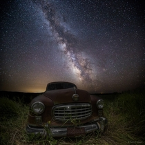 Milky Way stars shine bright over this old Nash near Ree Heights South Dakota  Photo by Aaron J Groen