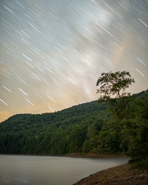 Milky Way Trails over Switzer Lake VA