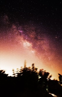 Milky Way using DSS shot from a mountain on Cyprus Im new at this but it is fun