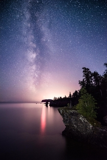 Milky way views from Tettegouche State Park in MN