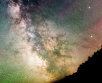 Milky Way with Airglow  Insta calcentrate