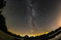 Milkyway from the light polluted Netherlands