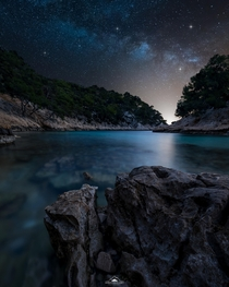 MilkyWay in the French Calanques of Marseille x