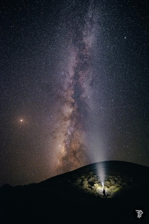 Milkyway on El Hierro Isla del meridiano