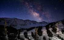 Milkyway over Arapahoe Basin in Colorado