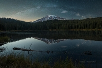 Milkyway over Mt Rainer by Febian Shah