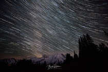 Milkyway timelapse at Mt Rainier