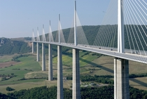 Millau Viaduct France notice the cars for scale