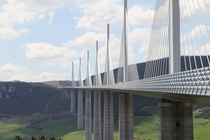 Millau Viaduct in France by Foster  Partners with structural engineer Michel Virlogeux total lenght  m  max height  m