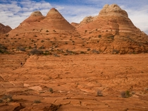 -million-year-old sand dunes turned to rock Coyote-buttes North Arizona  IG TallCupOfChocolateMilk