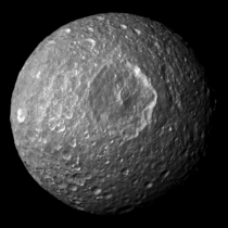 Mimas Saturns Death Star moon  x