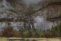 Mind-bending flipped reflection of Yosemite Falls shot last week
