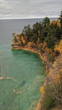 Miners Castle Overlook Pictured Rocks MI