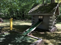 Mini golf course at abandoned Telemark Lodge in Wisconsin