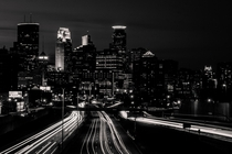 Minneapolis Minnesota USA a few hours after sunset