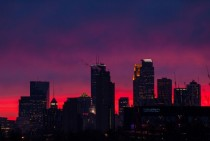 Minneapolis skyline at Sunset x-post from rMinnesota