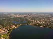 Minneapolis with Lake of the Isles and Lake Calhoun